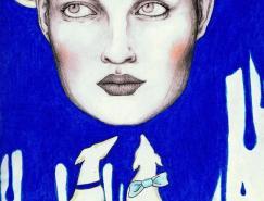 MariaCaleis漂亮的人像插画