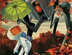 秋天风情的插画欣赏