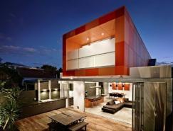 夺目的橙色:墨尔本SouthYarra住宅设计