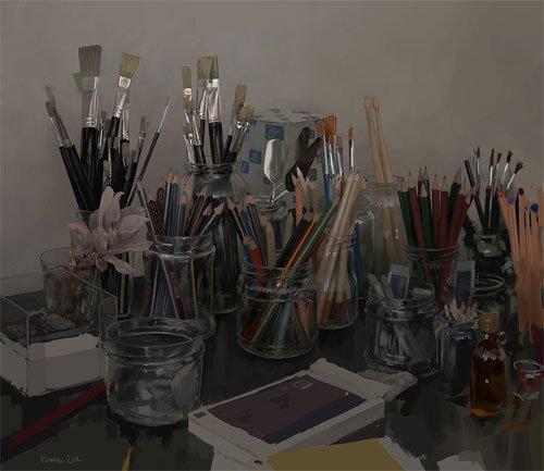 40张静物类数字绘画作品