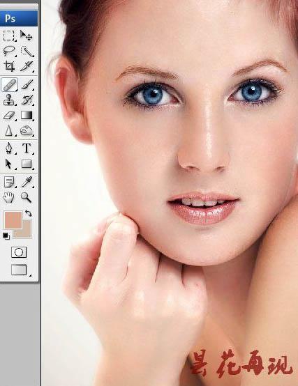 利用通道及计算快速消除人物脸部斑点(2)