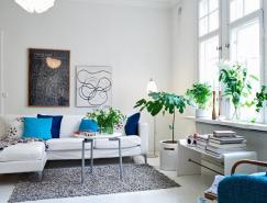 北欧风格的白色精致公寓设计