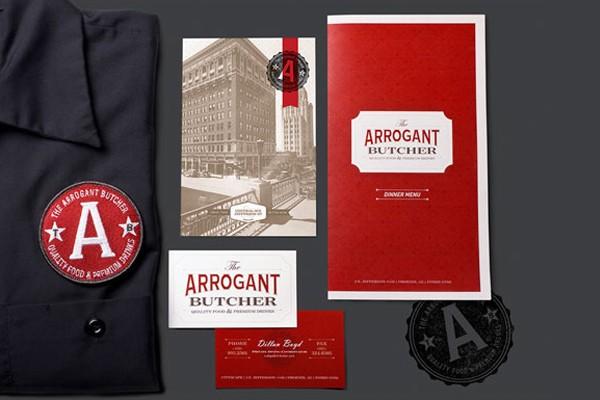 ArrogantButcher餐厅VI设计