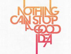 国外漂亮的字体海报设计欣赏