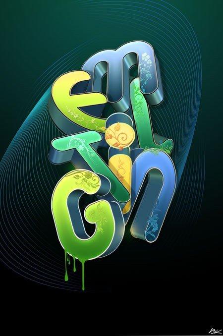 文字的艺术:50款国外海报设计