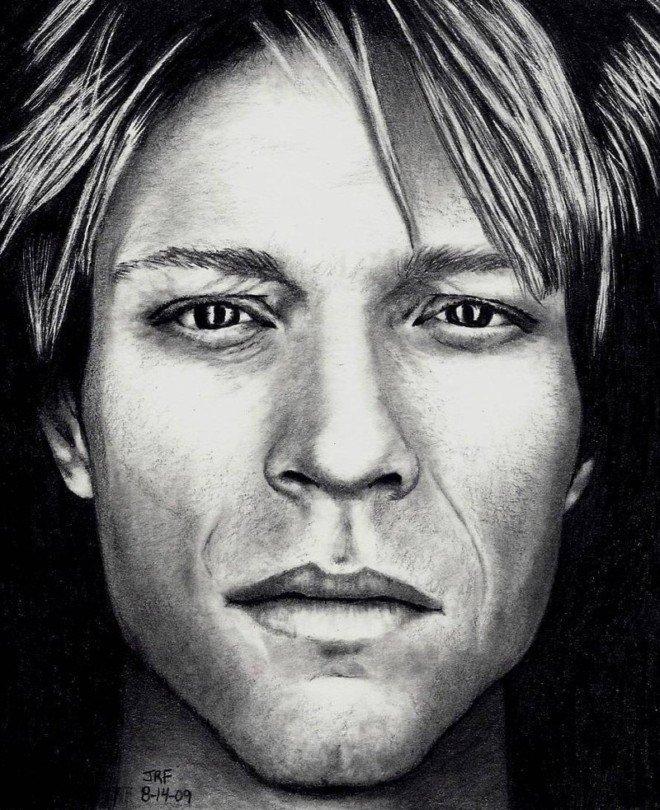 好莱坞明星肖像铅笔画欣赏(4)