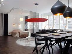 开放的布局空间:斯德哥尔摩公寓设计