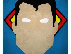 AndresRomero极简风格超级英雄插画