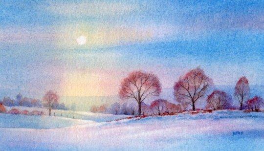 漂亮的风景绘画作品