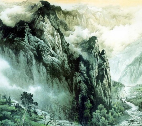 漂亮的风景绘画作品高清图片