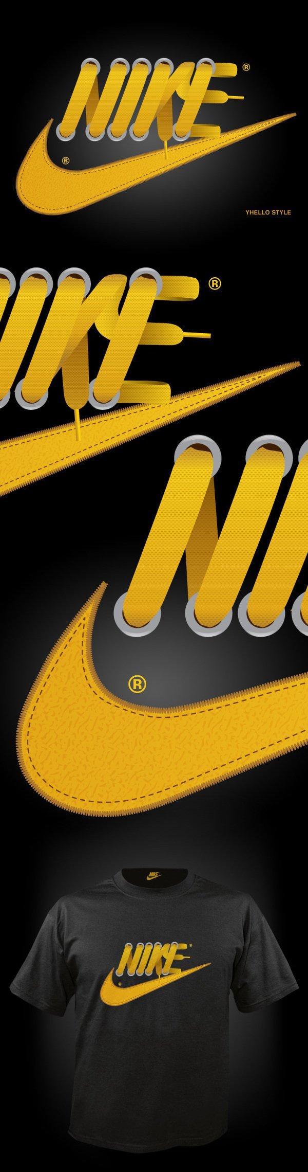 香港最新资讯_Nike鞋带创意广告设计 - 设计之家