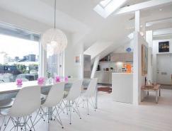 开放空间的Ostermalm顶层公寓设计