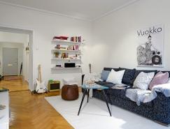 瑞典简洁风格的两居室公寓设计