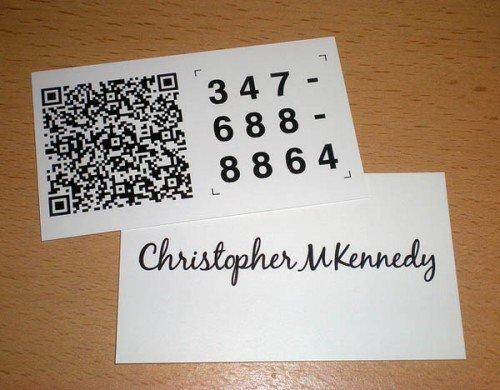 QR码与名片的融合设计