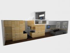 空间利用的杰作:46平米公寓