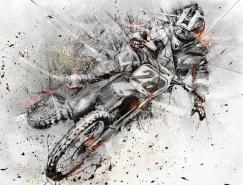 AlexisMarcou动感的极限运动插画欣赏