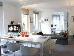 巴黎开放式小复式公寓设计