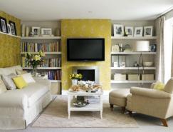 室内设计欣赏:黄色系的温暖氛围