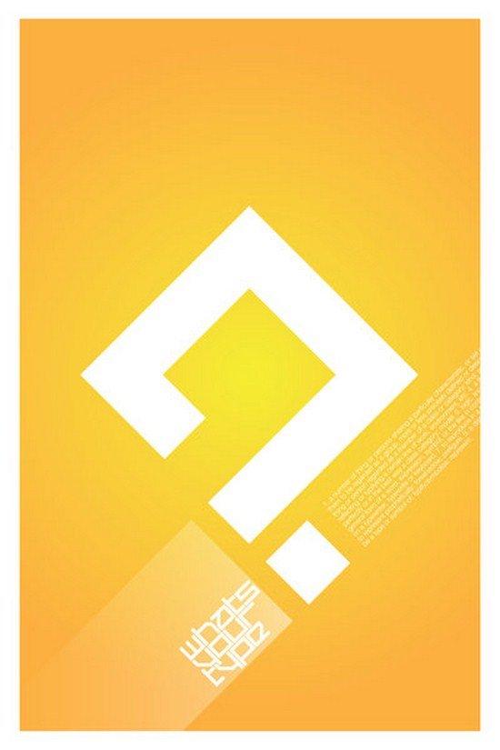海报设计欣赏:漂亮的文字设计
