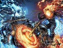 Marvel漫画人物:恶灵骑士(GhostRider)插画欣