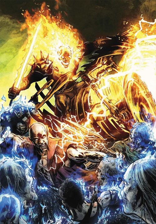 marvel漫画人物: 恶灵骑士(ghost rider)插画欣赏