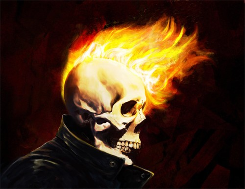 marvel漫画人物: 恶灵骑士(ghost rider)插画欣赏(2)