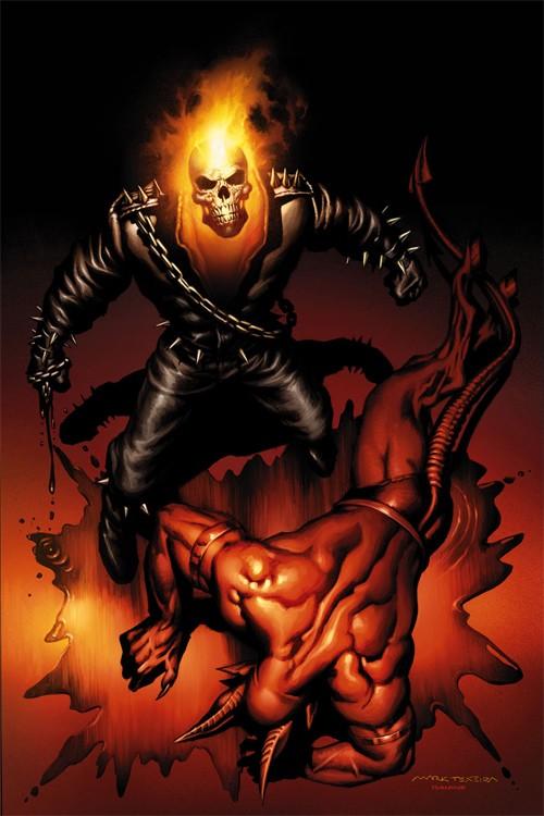 marvel漫画人物 恶灵骑士 ghost rider 插画欣赏高清图片