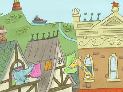 28张可爱儿童图书插图设计(3)