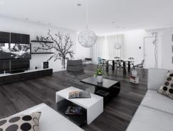 黑白色调室内装修设计欣赏