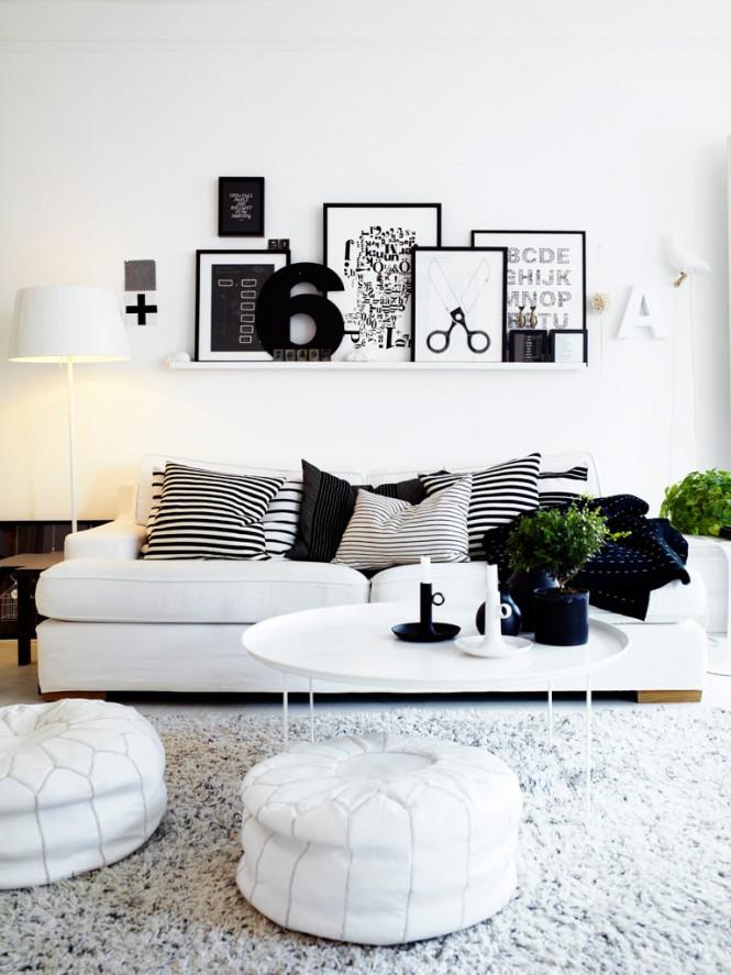 黑白色调室内装修设计欣赏(2)