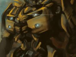 变形金刚人物插画:大黄蜂
