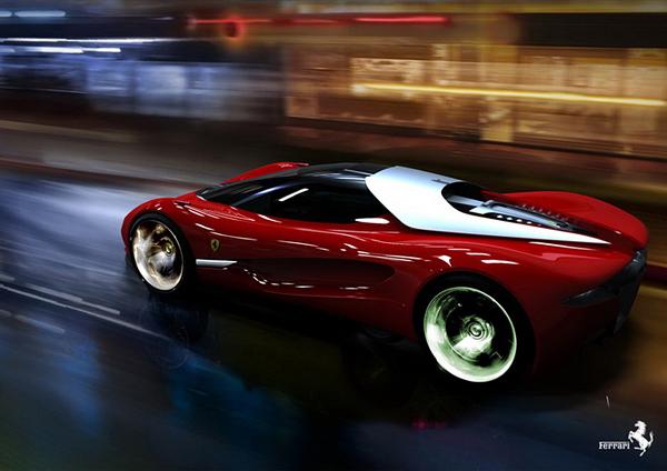 法拉利世界设计大赛第二名 samir sadikhov的xezri超跑概念车高清图片