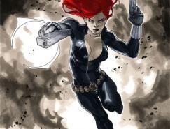 Marvel漫画人物:黑寡妇(BlackWidow)插画欣赏