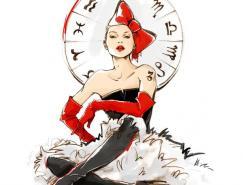 AlenaLavdovskaya漂亮的时装手绘插画
