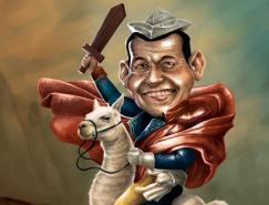 GuillermoFajardo幽默人物插画