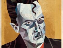 DaveMurray:立体主义风格肖像插画