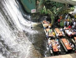 菲律宾的瀑布餐厅