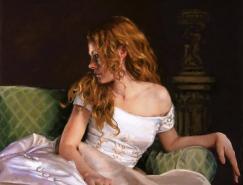 JeanHildebrant肖像油画作品