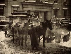 老照片:雪中纽约(1892-1920)