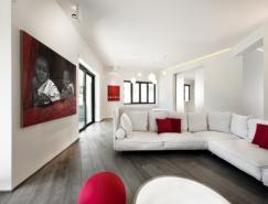 紅白搭配的羅馬Celio公寓設計