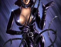 动漫英雄人物:猫女侠(Catwoman)插画