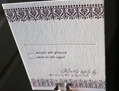 20個優雅的凸版工藝婚禮請柬設計