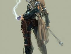 X战警人物插画:牌王(Gambit)