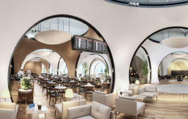 坐落于土耳其伊斯坦布尔的土耳其航空公司CIP休息室由Autoban担纲设计而成。   土耳其航空公司新的CIP休息室最近开放,该休息时位于伊斯坦布尔阿塔图尔克机场的候机室内。休息室占地3000平方米,每天可以容纳2000名游客。   设计师在对休息室的设计过程中,将这个空间的用途放在首位,那就是为光顾土耳其航空公司的乘客打造富有土耳其特色体验。整个休息室的设计理念来源于机场大厅内覆盖在原有外壳结构上面的第二层外壳。休息室采用传统的建筑拱廊式的结构,由一系列球形窗体组成。这些看似普通的球形设计通过将