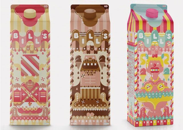 70款创意牛奶包装设计