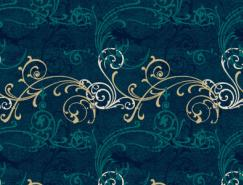 28款漂亮的花纹底纹素材
