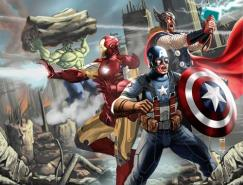 超级英雄漫画人物插画:复仇