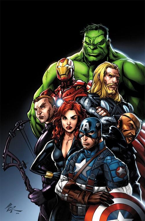 超级英雄漫画人物插画:复仇者联盟the avengers