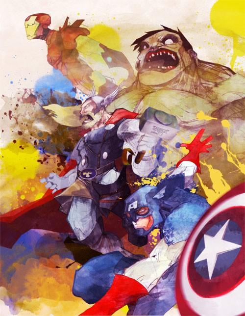 超级大声漫画联盟插画:复仇者人物TheAvenge漫画说英雄图片
