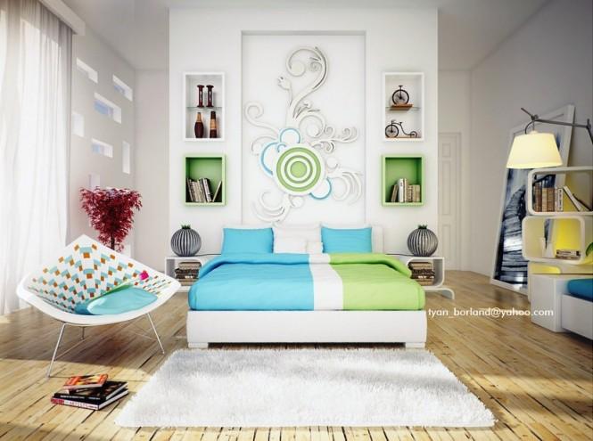 卧室背景墙效果图欣赏 - 设计之家